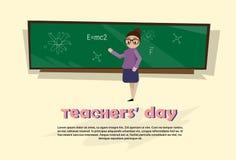 Teacher Day Holiday Woman School Class Board Stock Photos