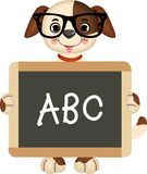 Teacher Dog. Scalable vectorial image representing a teacher dog with tableau abc, isolated on white Royalty Free Stock Image
