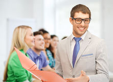 Teacher doing lecture at school Royalty Free Stock Photo
