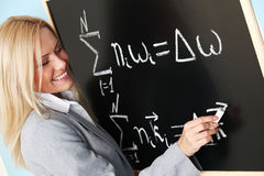 Teacher draw Stock Images