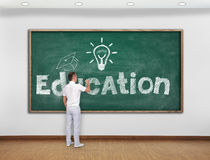 Teacher drawing education concept Royalty Free Stock Images
