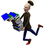 Teacher drops off a pack of books Royalty Free Stock Image