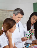 Teacher Explaining Molecular Structure To Students Royalty Free Stock Photo