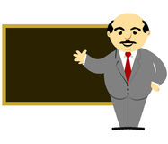 Teacher In Front of Blackboard. A teacher standing in front of a blackboard royalty free illustration