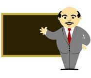 Teacher In Front of Blackboard. A teacher standing in front of a blackboard Royalty Free Illustration