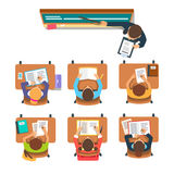 Teacher in front of the children at classroom Stock Images