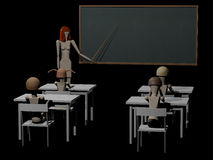Teacher in front of school class 3D rendering Stock Photo