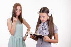 Teacher furious about pupil Stock Photography