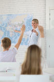 Teacher during geography class Royalty Free Stock Photos