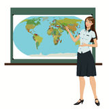 Teacher of Geography Stock Images