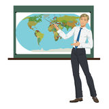Teacher of Geography Stock Photos