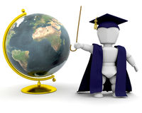 Teacher with globe Royalty Free Stock Photography