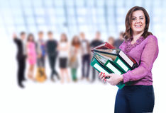teacher and group of Pupils Royalty Free Stock Photo