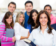 Teacher with a group of students Royalty Free Stock Photos