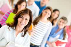 Teacher with group of students Royalty Free Stock Image