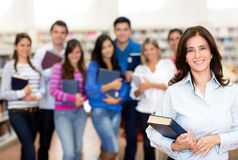Teacher with a group of students Royalty Free Stock Photography