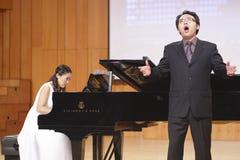 Teacher guowei of huaqiao university singing song Stock Photo