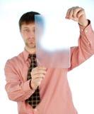 Teacher guy on white Royalty Free Stock Photos