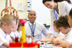 Teacher Happy at Scool Stock Images