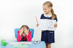 The teacher has put two in student diary Stock Photo
