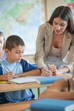 Teacher Helping a Student Royalty Free Stock Photography