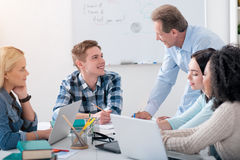 Teacher helping the students Royalty Free Stock Images
