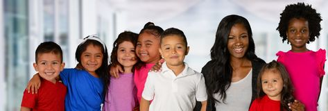 Teacher And Her Students royalty free stock photo