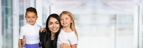 Teacher With Students royalty free stock photo