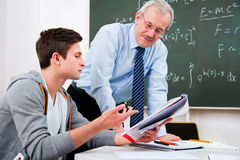 Teacher with high school students Royalty Free Stock Photos