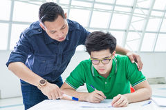 Teacher and his student Stock Photography