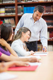 Teacher with his students Royalty Free Stock Images