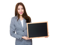 Teacher hold with black board Stock Photography