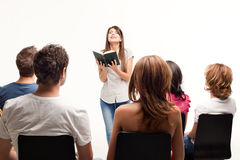 Teacher holding book Stock Photography