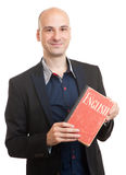 Teacher holding a book. english learning concept Stock Photography