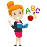 Teacher holding Book. Vector Illustration of a Teacher holding Book Stock Illustration