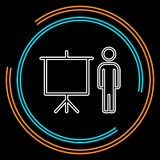 Teacher icon - teacher with board stock illustration