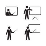 Teacher icons set Stock Photo