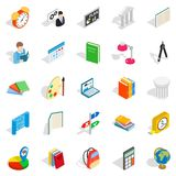 Teacher icons set, isometric style Royalty Free Stock Photos