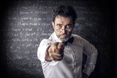 Teacher. A teacher is inquisitive but instructive stock photos