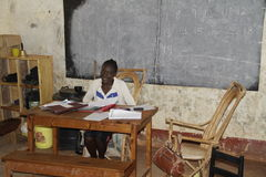 Teacher in Kenya Royalty Free Stock Image