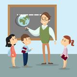 Teacher with kids. Royalty Free Stock Image