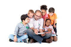 Teacher with kids Royalty Free Stock Photos