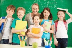 Teacher and learners Royalty Free Stock Photos