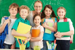 Teacher and learners Royalty Free Stock Images