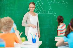 Teacher at lesson Stock Images