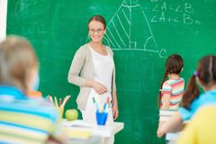 Teacher at lesson Royalty Free Stock Images