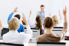 Teacher at lesson Stock Image