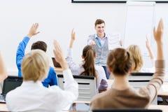 Teacher at lesson Stock Images