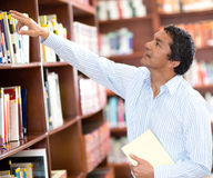 Teacher at the library Royalty Free Stock Images