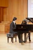 Teacher liyunjie of xiamen university playing piano Stock Image